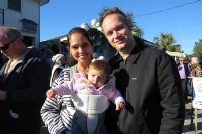 Rebecca, Olivia and Phillipe Bardet of Washington, D.C.