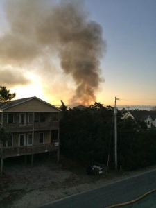 Early morning fire of Dec. 27. Photo by Jackson Eiland