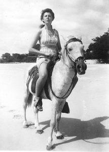 Eleanor Garrish on Ocracoke.