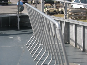 One of the bike racks on the passenger ferry visiting Ocracoke. Photo by P. Vankevich