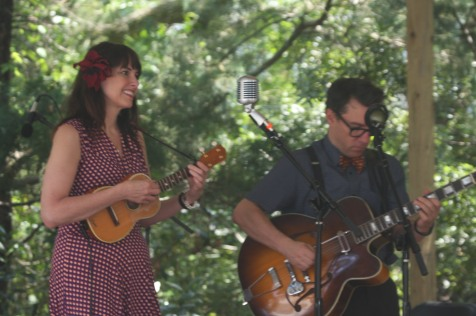 Penny and Victor perform at the 2015 Ocrafolk Fest. Photo by P. Vankevich
