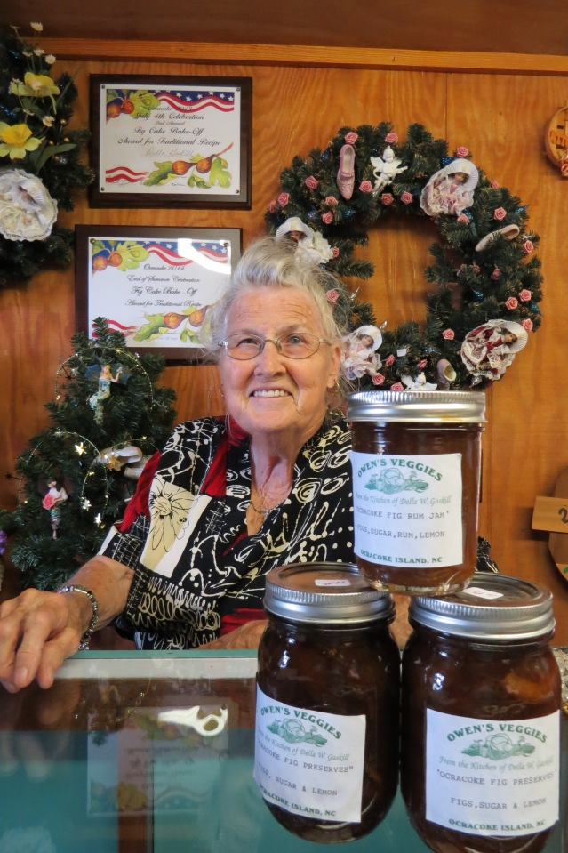 Della Gaskill sells her fig preserves and fig rum butter at her Woccocon Gift shop on Lighthouse Road.