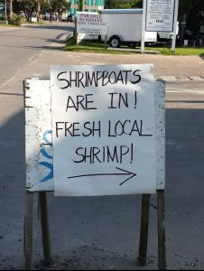Ocracoke Observer Shrimp Sign 7-24-15