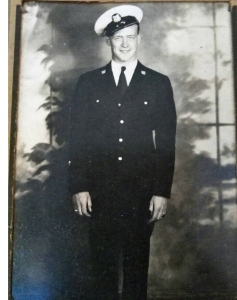 Andy Anderson during his Coast Guard years, World War II. Photo courtesy of family.