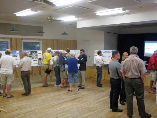 Passenger ferry open meeting on Ocracoke Aug. 31. Photo by P. Vankevich