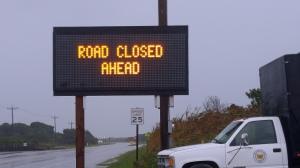 Leaving Ocracoke vllage sign information at 9:00 a.m., Sat. Sept. 26