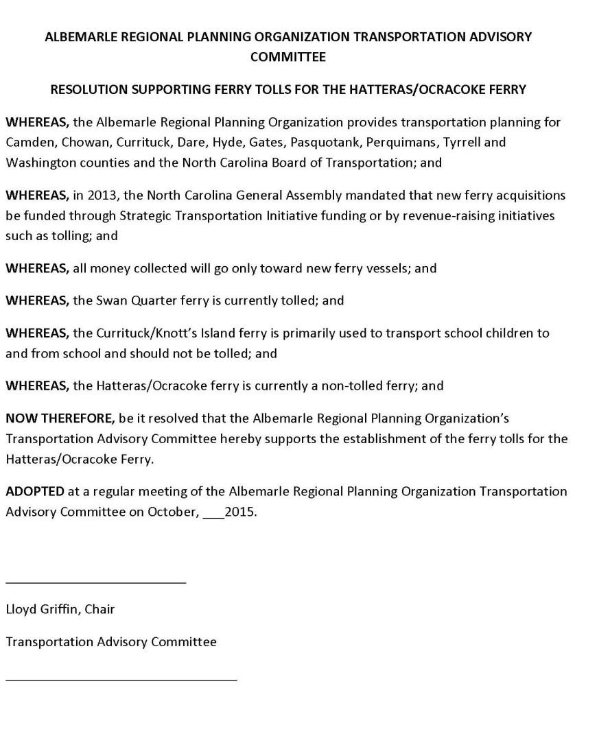 ARPO Resolution for Ferry Tolls (1) (1)