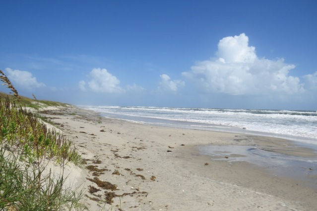 The ocean is up to the dunes on Saturday at the Lifeguard Beach