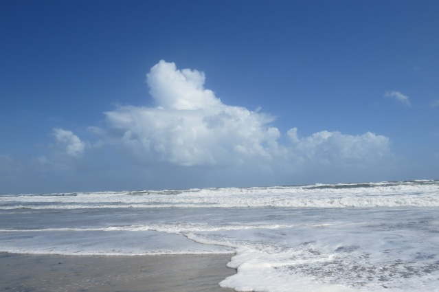 The ocean was roiling today.