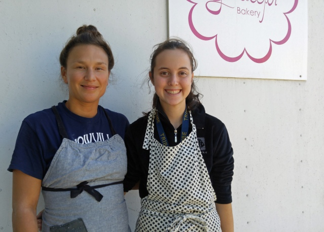 Lauren Strohl, owner of Graceful Bakery, with her mentee, Stacey ONeal. Photo by P. Vankevich
