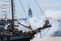 The Battle of Ocracoke in Silver Lake Harbor on Saturday. Photo by Natasha Jackson