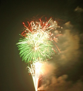 Fireworks display courtesy of wikimedia commons