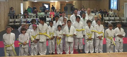 The judo graduates. Photo courtesy of Gustavo Sanchez