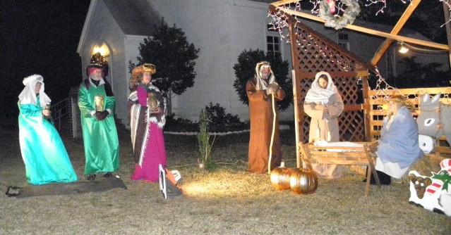 The live nativity at the Ocracoke Methodist Church will be Dec. 24.