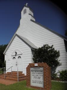 The Ocracoke United Methodist Church on School Road.