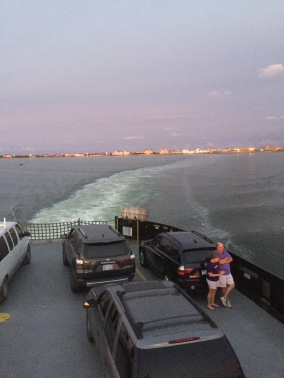 A ferry departs Hatteras. Photo by C. Leinbach