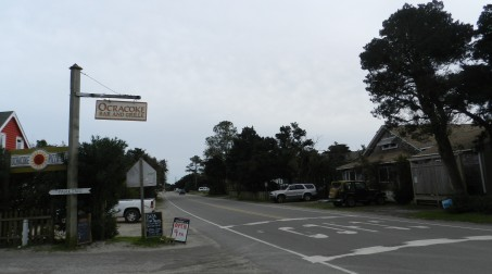 The Ocracoke Bar & Grille and Oscar's House B&B along Highway 12.