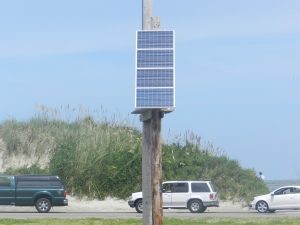 Solar panel at Ocracoke ferry terminal. Photo by P. Vankevich