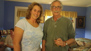Darlene Styron, former Ocracoke Township county and Tom Pahl. Photo by P. Vankevich