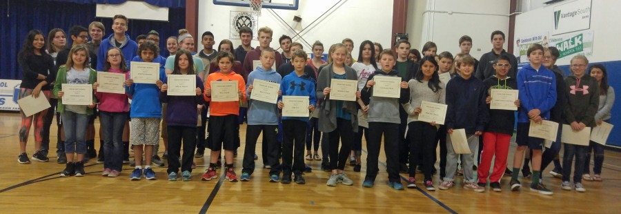 Ocracoke honor roll students getting A's and B's. Photo por P. Vankevich