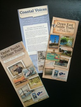 Some of the brochures that will be available along the byway. Photo: Mark Hibbs