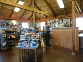 The NPS Visitor's Center on Ocracoke has a new look. The gift shop, information and beach-driving permit office have been combined. Photo by C. Leinbach