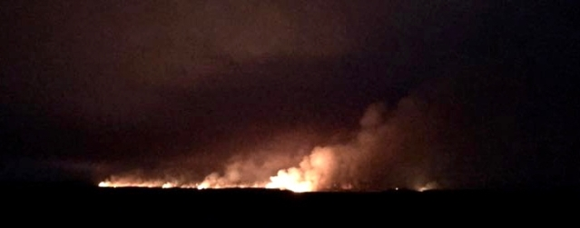 The fire Tuesday night. (Hyde County Emergency Services)