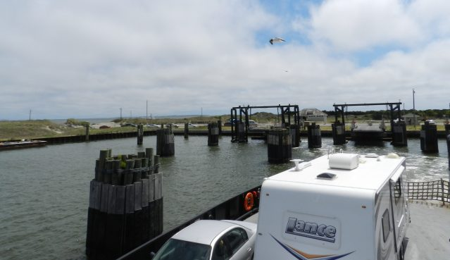 The ferry departs Ocracoke for Hatteras. Photo: C. Leinbach