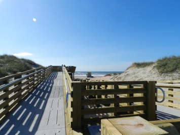The new boardwalk to the Lifeguard Beach is accessible for wheelchairs.