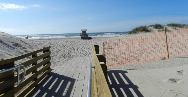 "The newly renovated boardwalk to the Lifeguard Beach, which also received the No. 4 honor in Dr. Beach's annual ""Top 10 Beaches in the United States."""