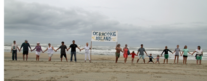 Hands across the sand, Ocracoke, May 21, 2016. Photo by P. Vankevich