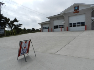 The voting poll is at the Ocracoke Volunteer Fire Department on Irvin Garrish Hwy.