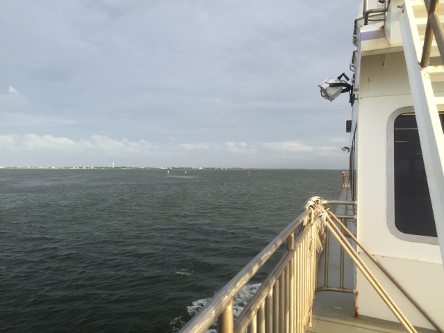The Swan Quarter ferry heads for Ocracoke. Photo: C. Leinbach
