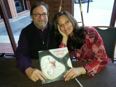 Tom Proutt and Emily Gary will sing 'Goodnight Songs' at 4 p.m. July 14 at the Books To Be Red stage on School Road.