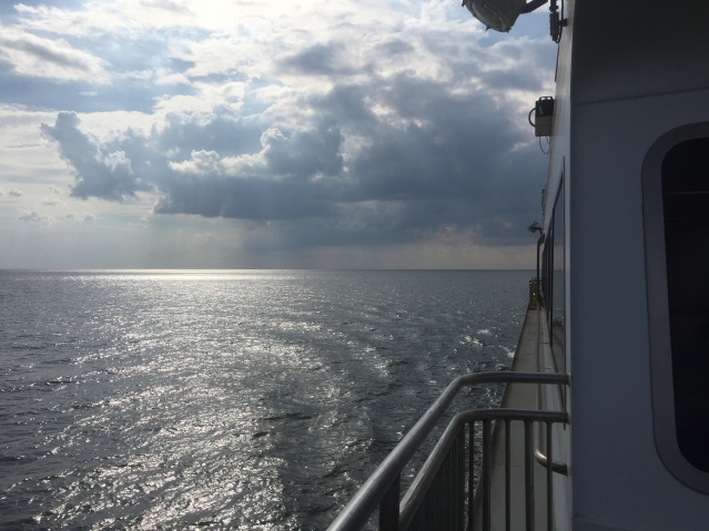On the Swan Quarter ferry to Ocracoke. Photo: C. Leinbach