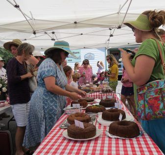 Fig cakes in competition for the Fig Cake Bake-Off last year.