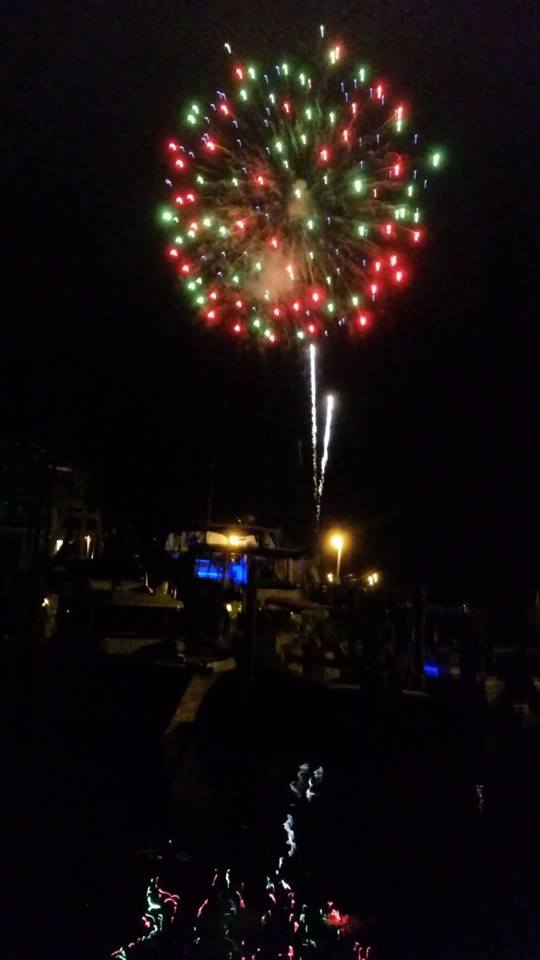 Professional fireworks returned to Ocracoke July 3 to the acclaim of islanders and visitors.