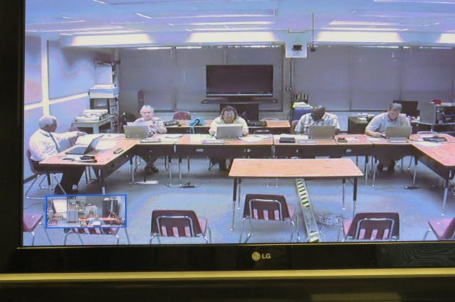 The Hyde County School Board meets in Swan Quarter and the meetings are broadcast to the Ocracoke School board member via teleconferencing.