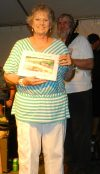 Lorraine Gaskill Wade of Sea Level, Carteret County, wins top honors in the fig preserve tasting event at the Ocracoke Fig Festival Aug. 13.