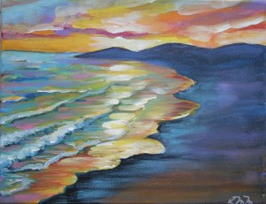 One of the art pieces island artist Kitty Mitchell is auctioning off prior to it being burned Tuesday from 7 to 9 at the Lifeguard Beach.