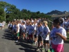 Students gather at the start line at Ocracoke School for last year's Color Run. this year's run will be Oct. 1, starting at the school. Photo: C. Leinbach