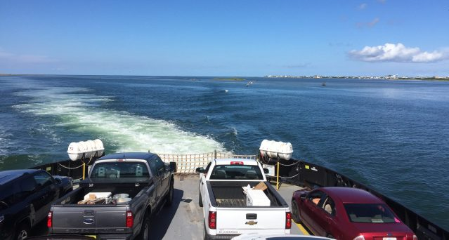 The ferry on its way from Hatteras to Ocracoke. Photo: C. Leinbach