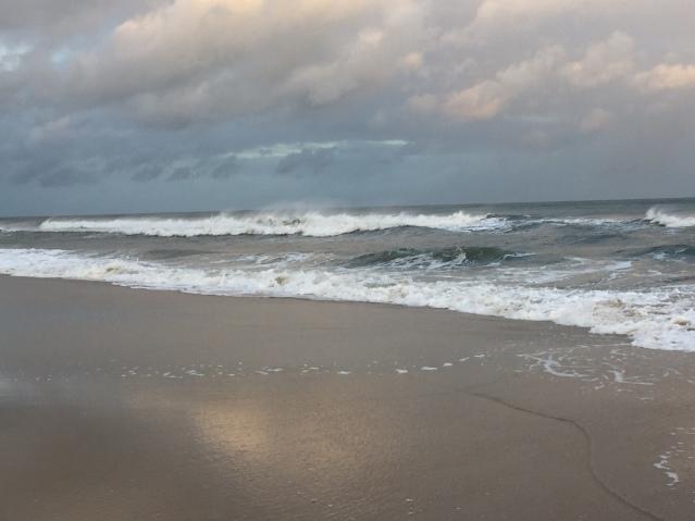 The ocean at twilight on Saturday. Photo: C. Leinbach