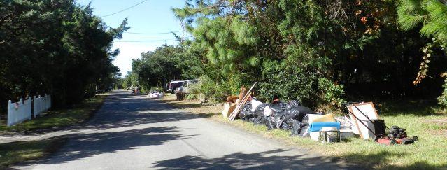 debris from Hurricane Matthew