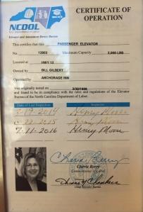 Cherie Berry's elevator campaign.