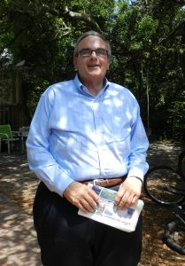 Warren Judge visited the island in August to talk to the Observer. Photo: C. Leinbach