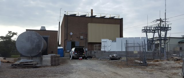 The generator/microgrid at Tideland's compound on Odd Fellows Lane. Photo by David Mickey