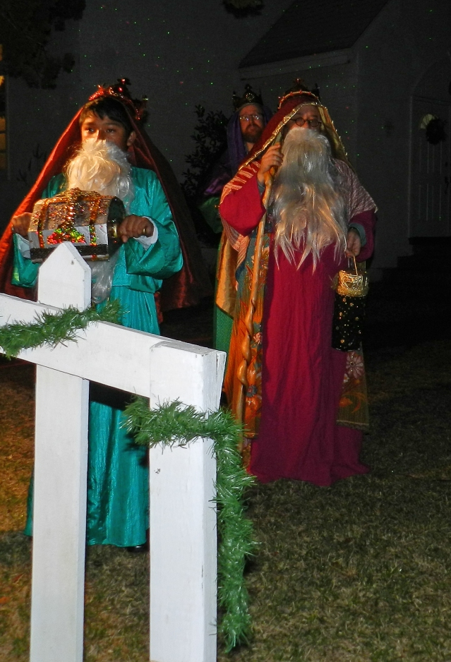 The Wise Men are Jackson Worthy, Richard Bryant and John Worthy.