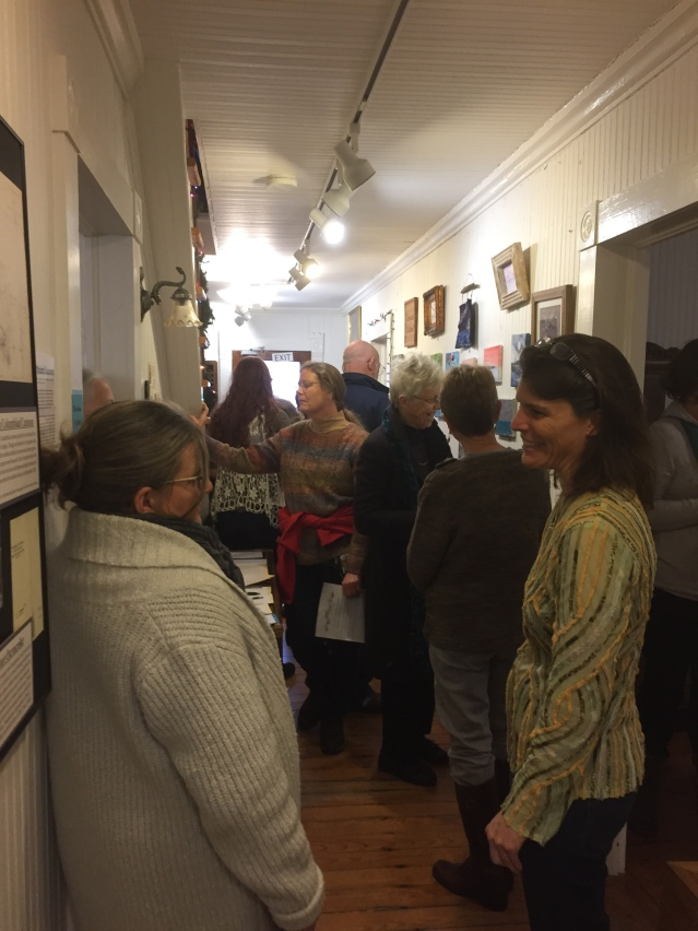 """The crowd at the OPS """"Ocracoke Through Your Eyes"""" art auction Saturday night. Photo: C. Leinbach"""