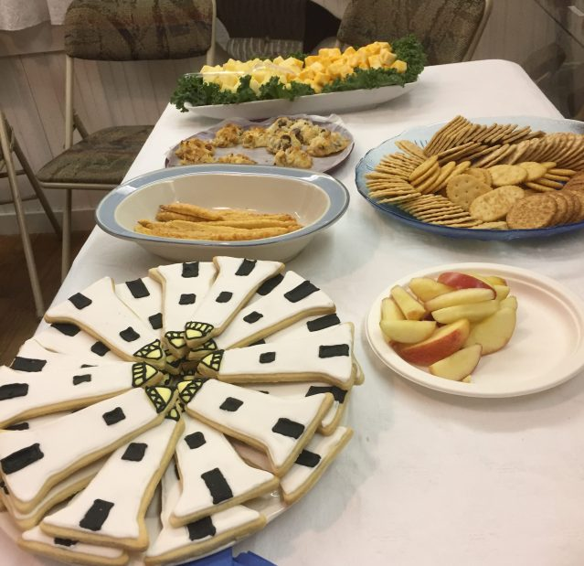 """Some of the many refreshments at the OPS """"Ocracoke Through Your Eyes"""" art auction."""